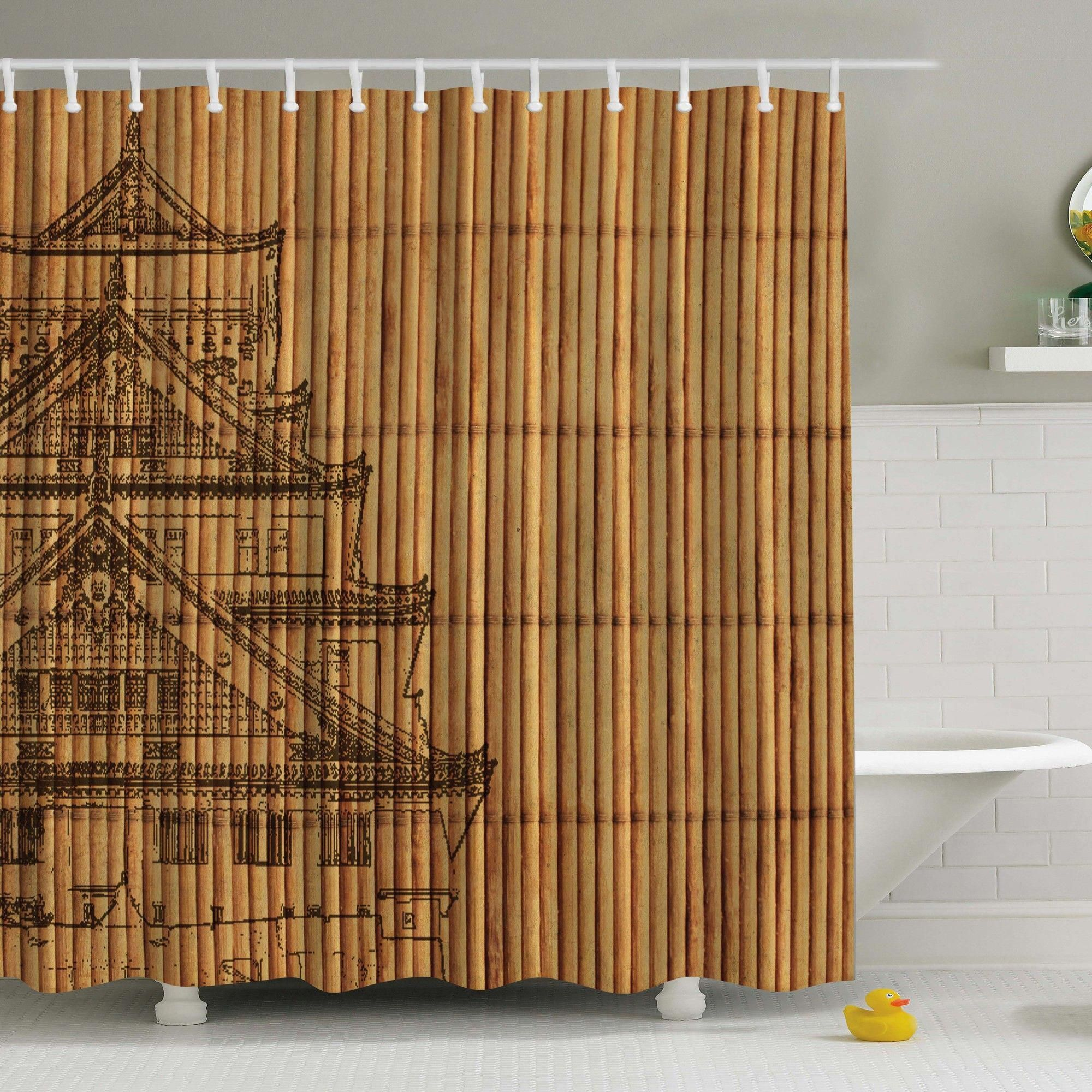 Japanese Reed Print Shower Curtain Asianhomedecorbedroomjapanesestyle