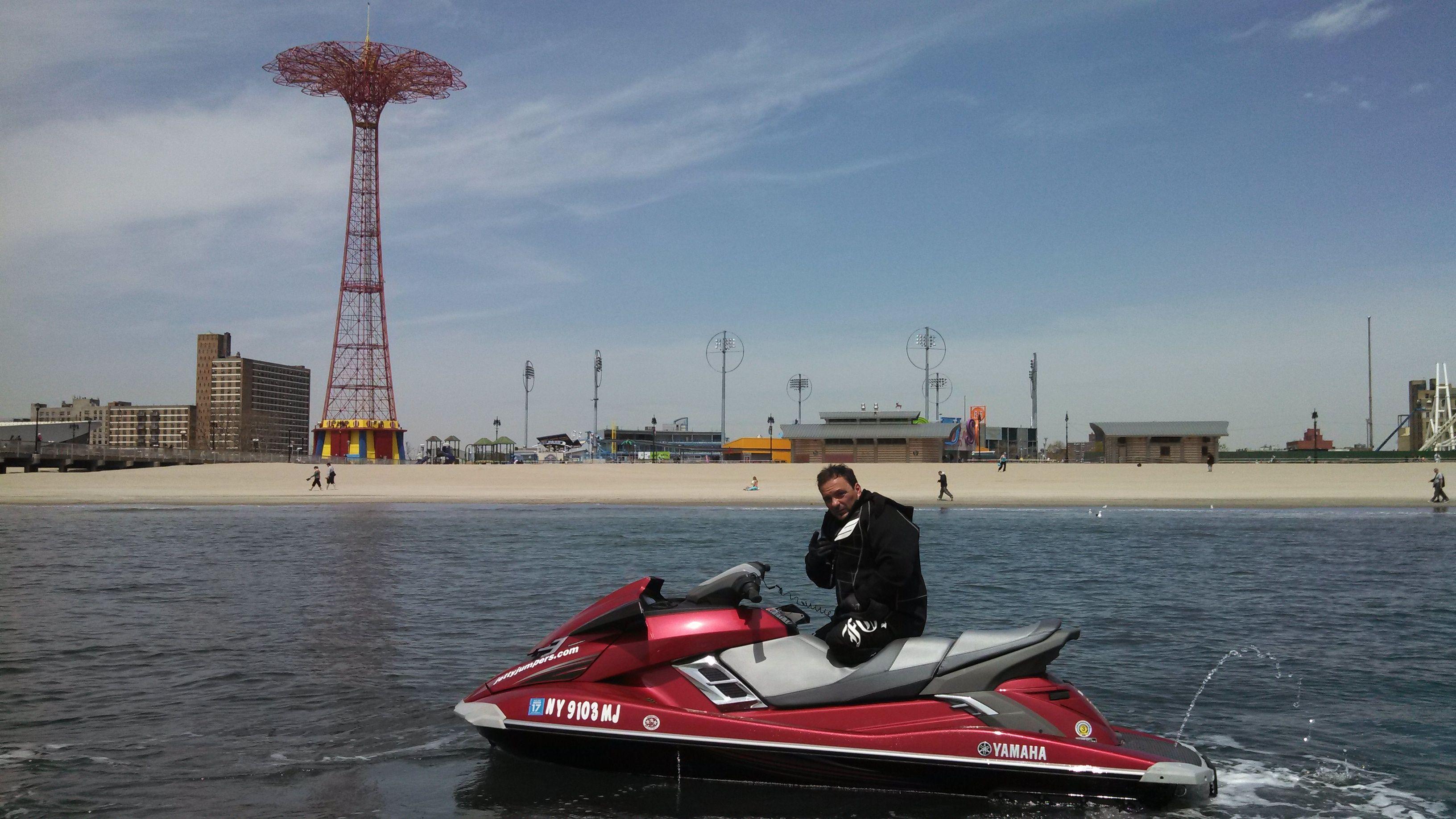 Jet ski tours to coney island and nyc