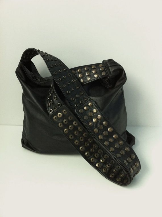 Black Leather Veronica Mars Bag Plain Front and Back