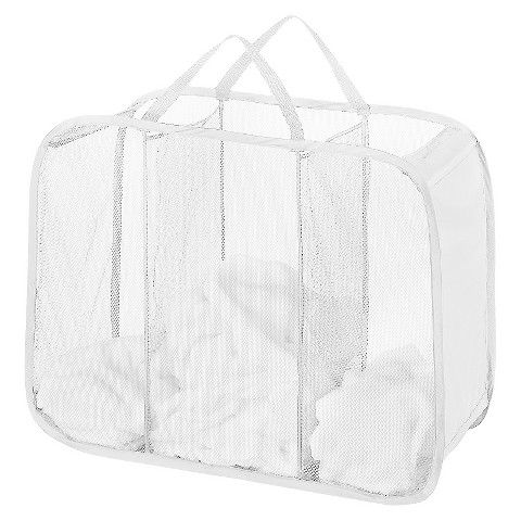 Laundry Bag Target Collapsible Laundry Basket With Three Compartments  Upenn Freshman