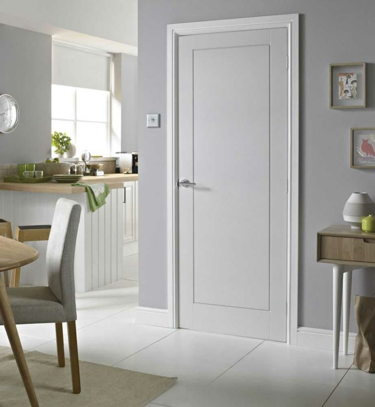 Puertas blancas para interiores modernos usos en