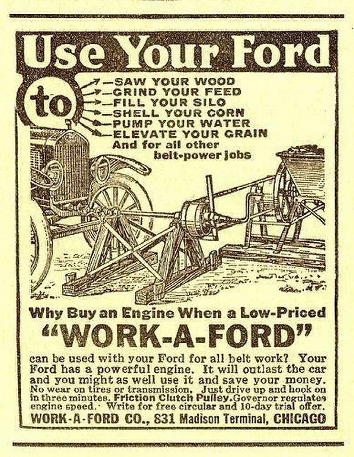Pin By Thomas Honeycutt On Farm Equipment With Images Automobile Advertising Ford Tractors Old Ads