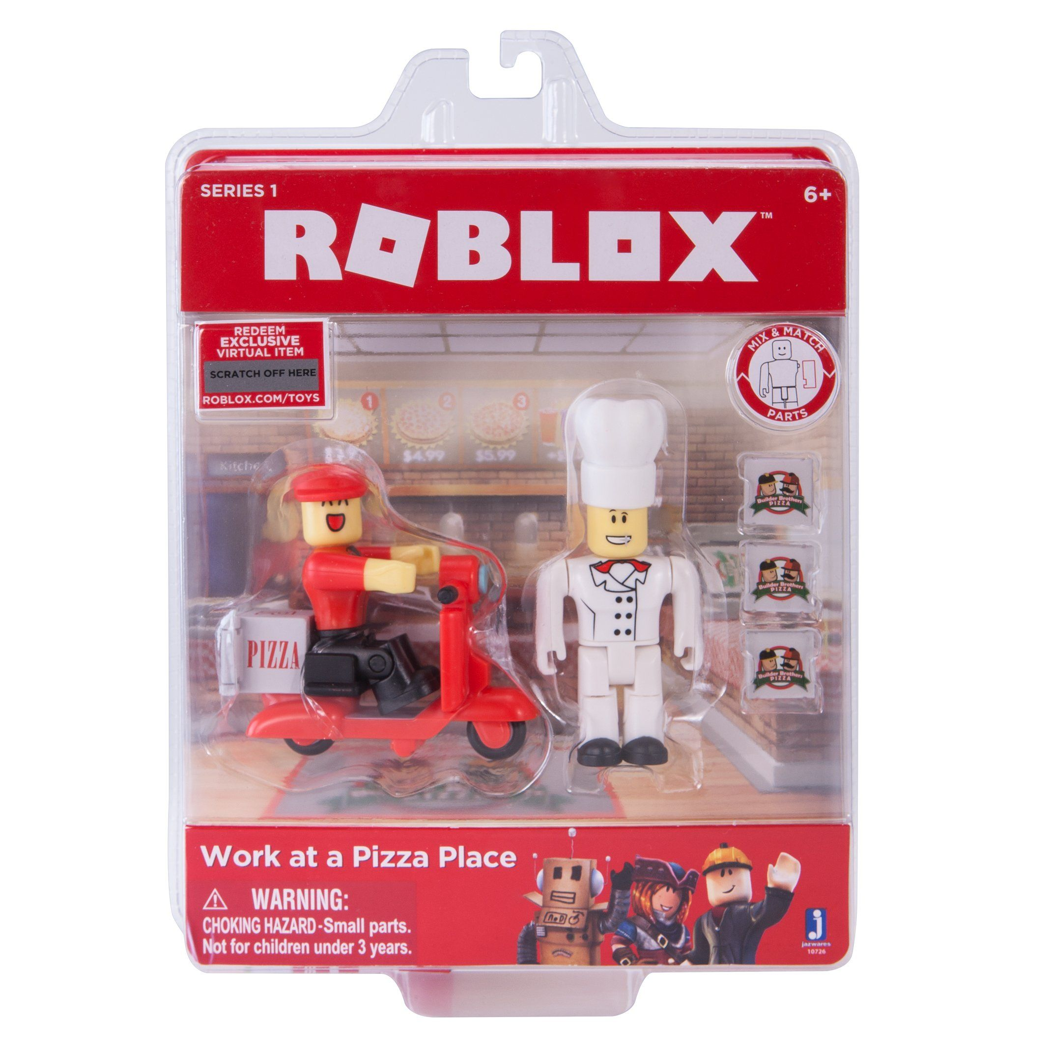 ROBLOX Work At a Pizza Place Action Figure. Builder brothers pizza wants  your help to