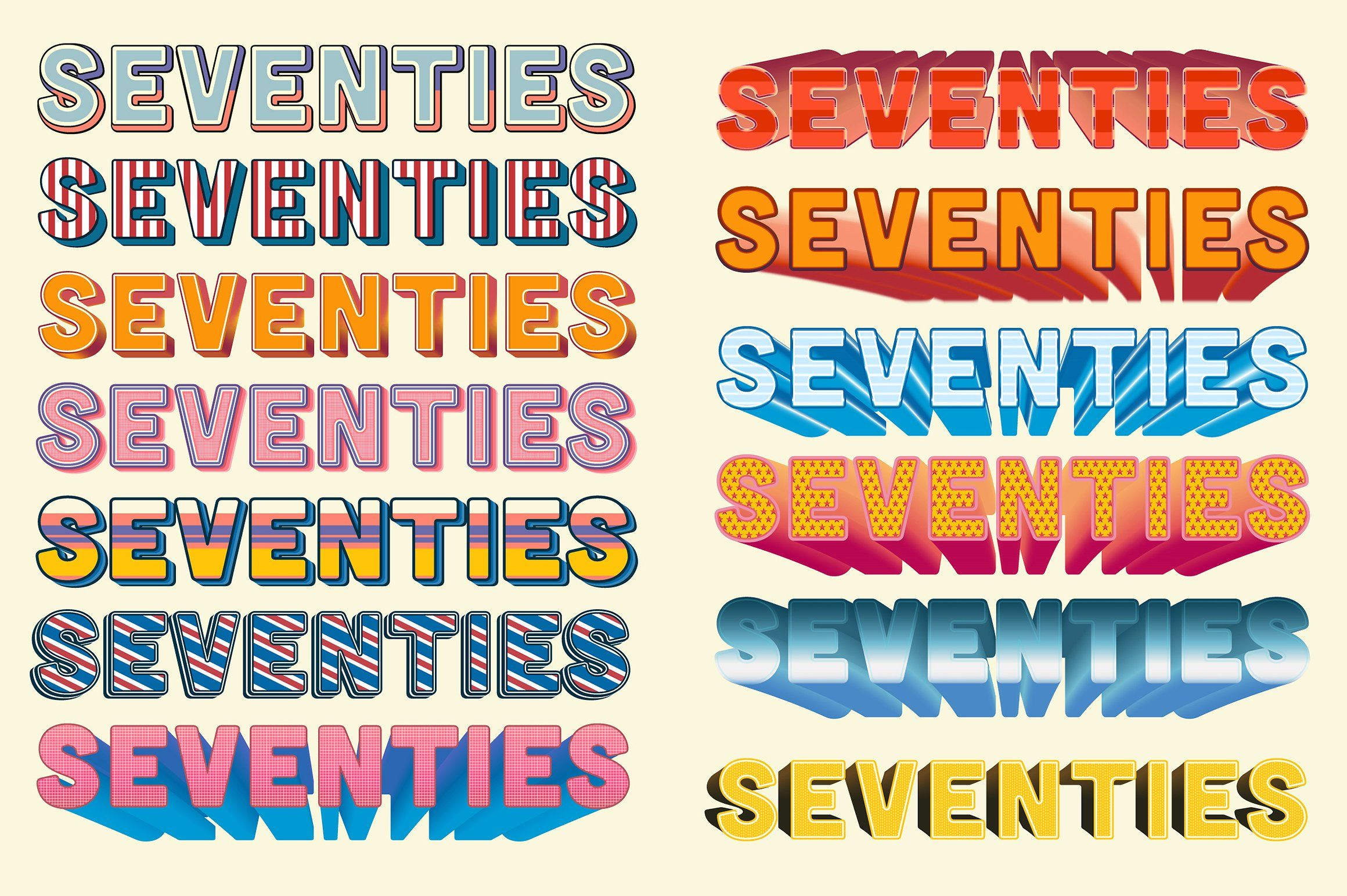 Back to the 70s - Layer Styles - 7 | TYPOGRAPHY | 70s ...