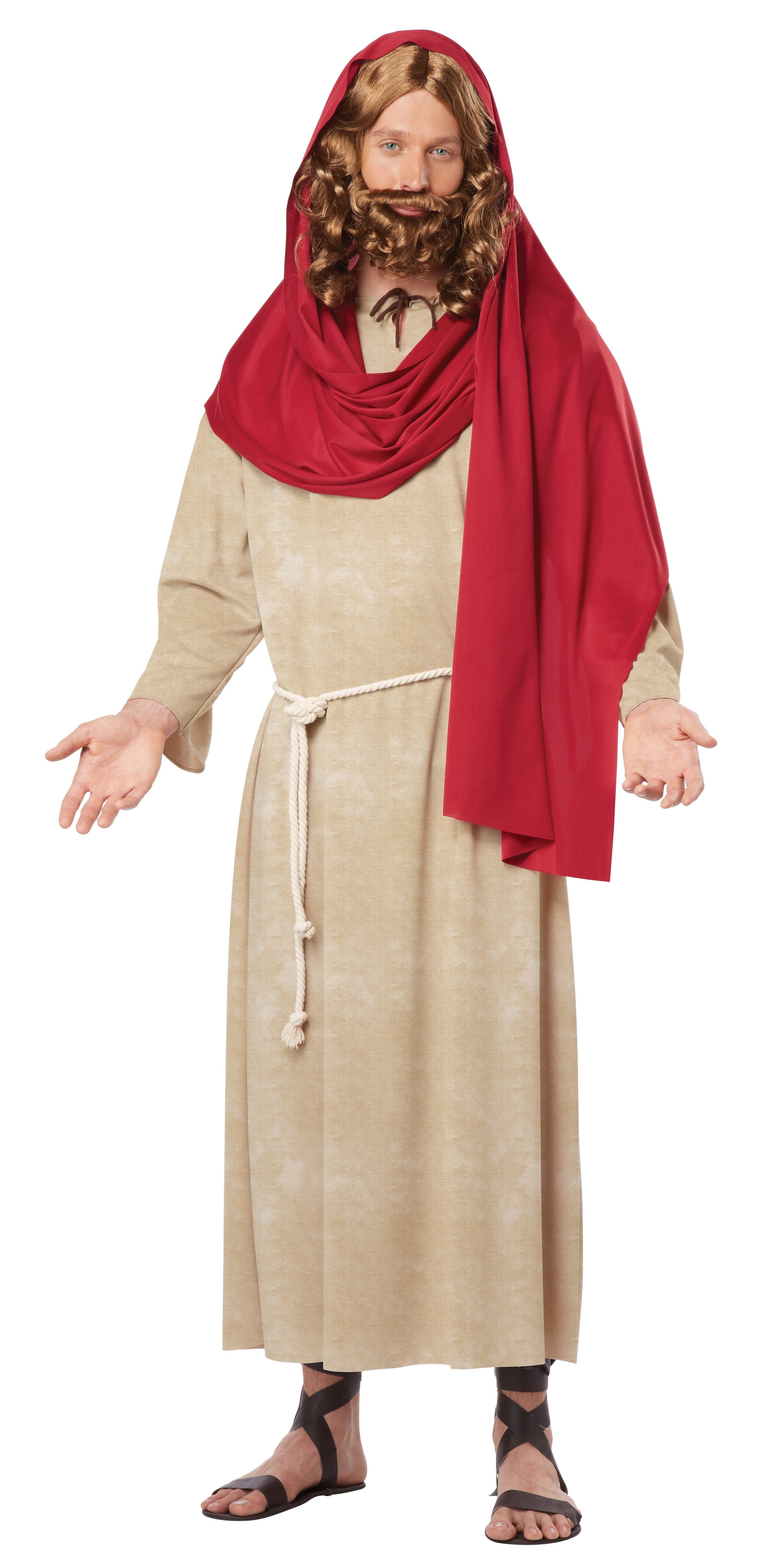 Jesus costume costumes till jul tema pinterest jesus costume you can turn yourself into jesus in this adult costume straight out of the holy bible this jesus christ costume includes a robe with attached waist tie and solutioingenieria Image collections