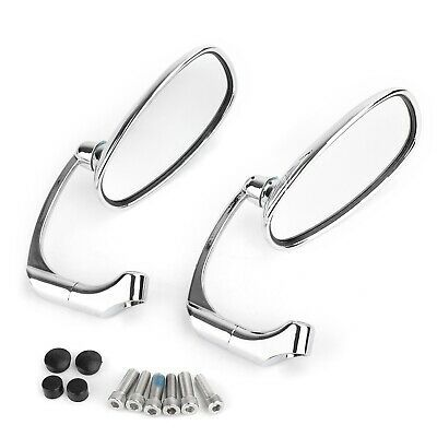 Motorcycle L-bar Retro Oval Rearview Side Mirror For GN// CG Cafe Racer Custom