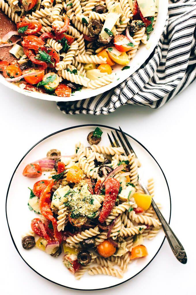 Easy Vegan Italian Pasta Salad Blissful Basil Pasta Salad Pasta Salad Italian Vegan Italian
