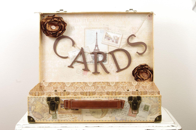 Paris Wedding Card Box Wedding Card Trunk With Romantic Paris