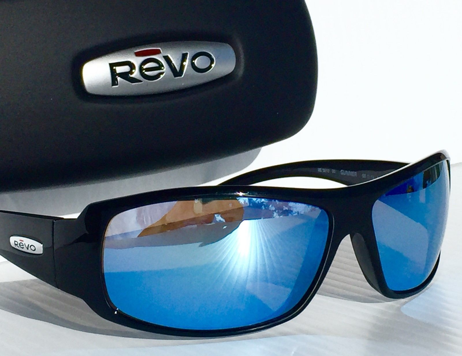 5e027fb10c8d REVO GUNNER BLACK w POLARIZED Blue Water Lens Sunglass 5010 00 BL (eBay  Link)