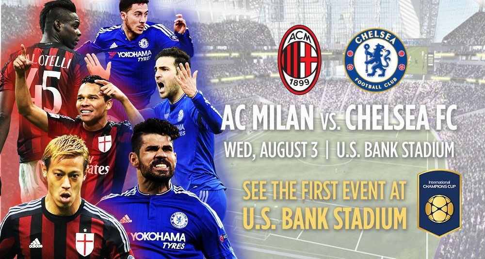Ac Milan Vs Chelsea Match Preview Head To Head Prediction Tv Schedule Teams Lineups Squad Online St Ac Milan Chelsea Match International Champions Cup