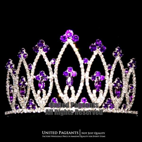 2015 Purple Queen Crowns Princess Wedding Prom Pageant