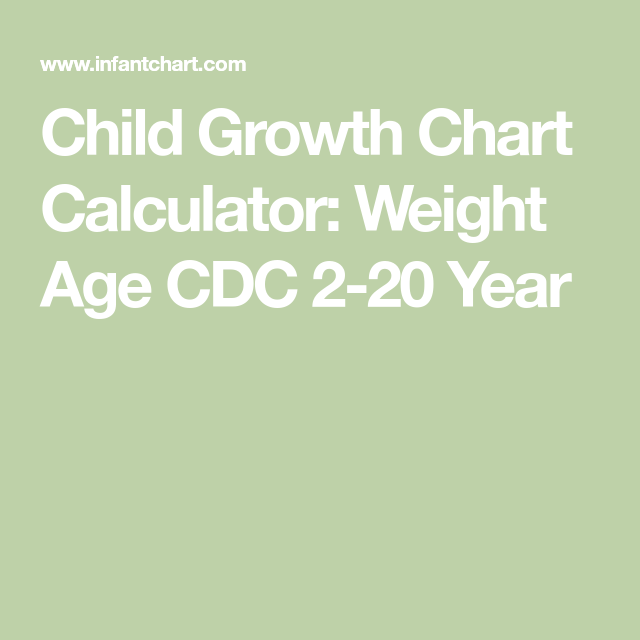 Child Growth Chart Calculator Weight Age Cdc 2 20 Year Peyton