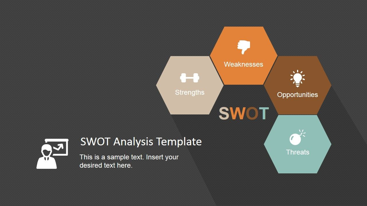Minimalist Swot Analysis Template For Powerpoint  Swot Analysis
