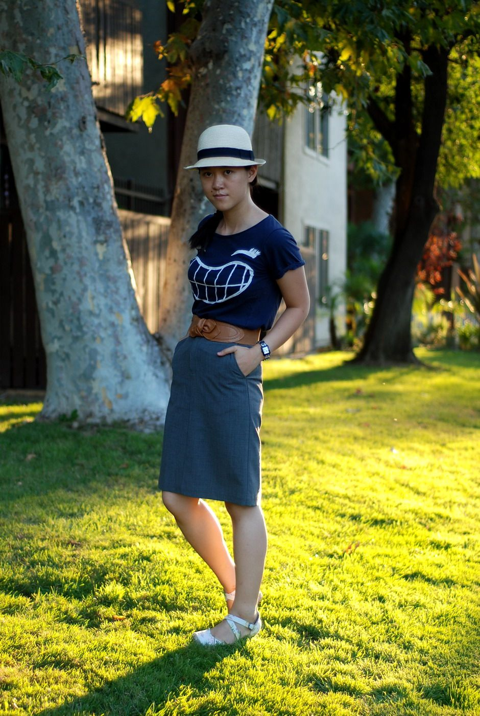 cd6cdeeb66 Dressing down a pencil skirt | Style | Hats, Skirts, Fashion