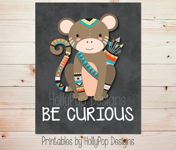 Monkey Printable Art Nursery