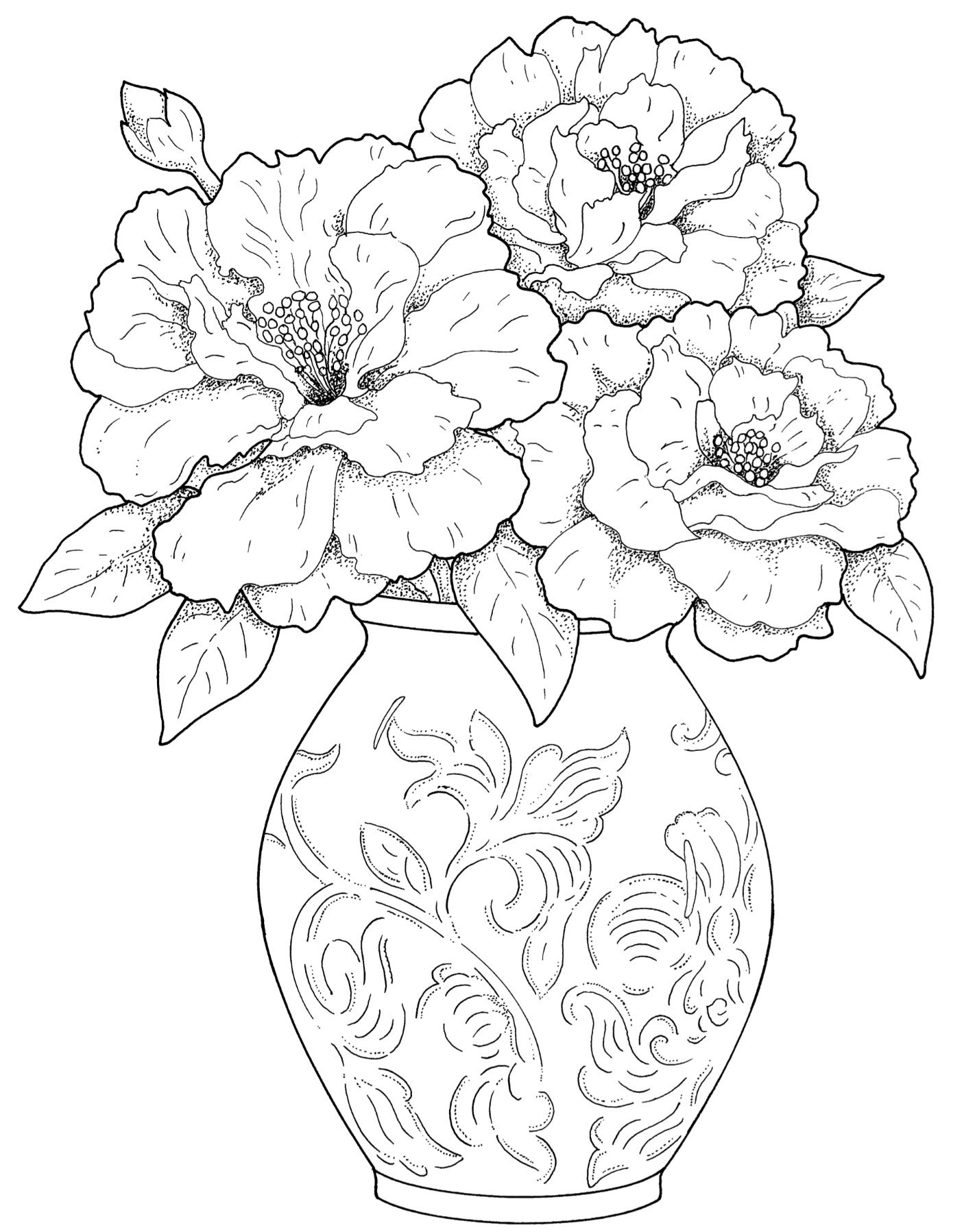 2 August 2015 National Coloring Book Day Coloring Pages Flower