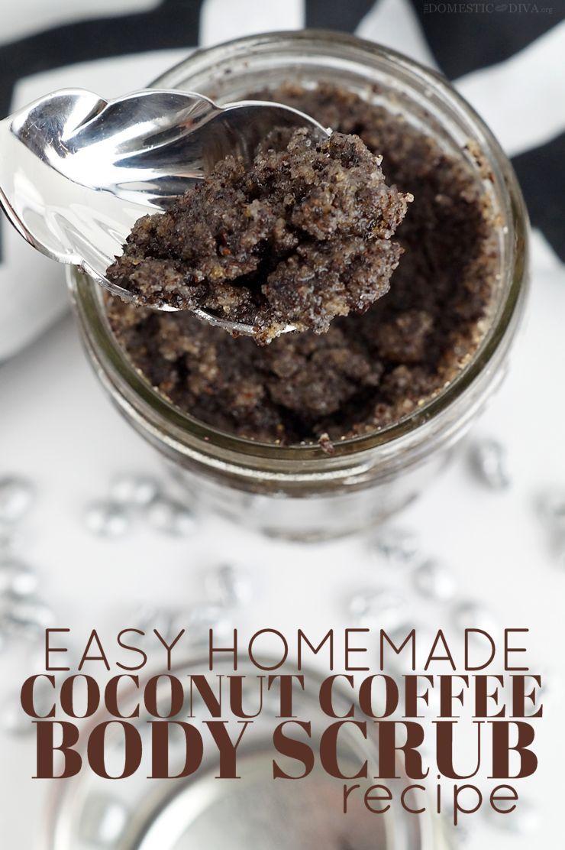 Diy beauty easy homemade coconut coffee body scrub recipe