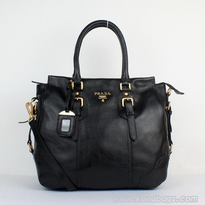 Prada bags and Prada handbags Prada 8033 Black Totes 324