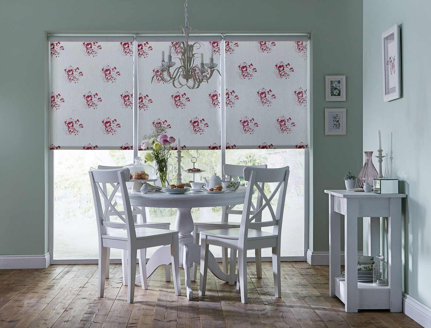 Apollo Blinds You Choose Cabbages and Roses Hatley Cerise roller ...
