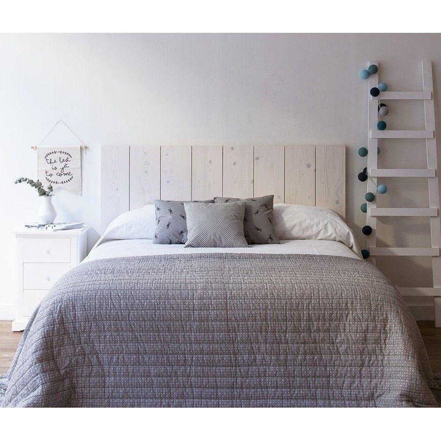 Nordik cabecero blanco bedrooms room and decoration for Camas matrimoniales
