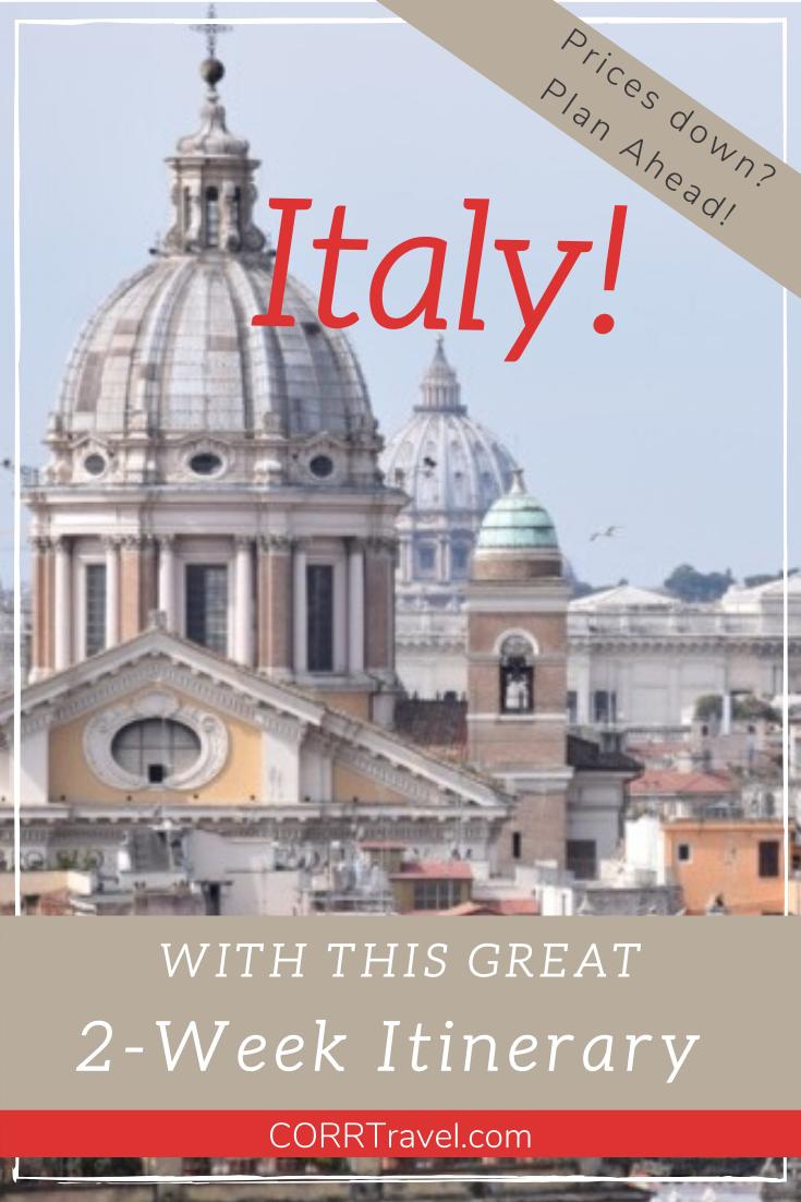 Enjoy Italy with this fabulous 2-week travel itinerary with NO car required to inspire any traveler to travel Italy. By @corrtravel     #corrtravel #corrtraveler #travel #travelphotography #travelcheap #traveltips #travelguide #solotravel #femaletravel #travelphoto #travelpics #travelgram #wanderlust #travelblogger #travelholic #lovetotravel #doyoutravel #goexplore #travelmore #Italy