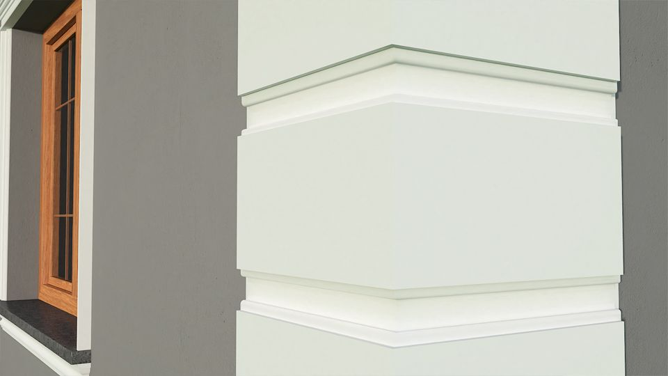 ✔ SAMPLES Exterior Coving Cornice Outside Window Wall Facade Crown Mouldings ✔