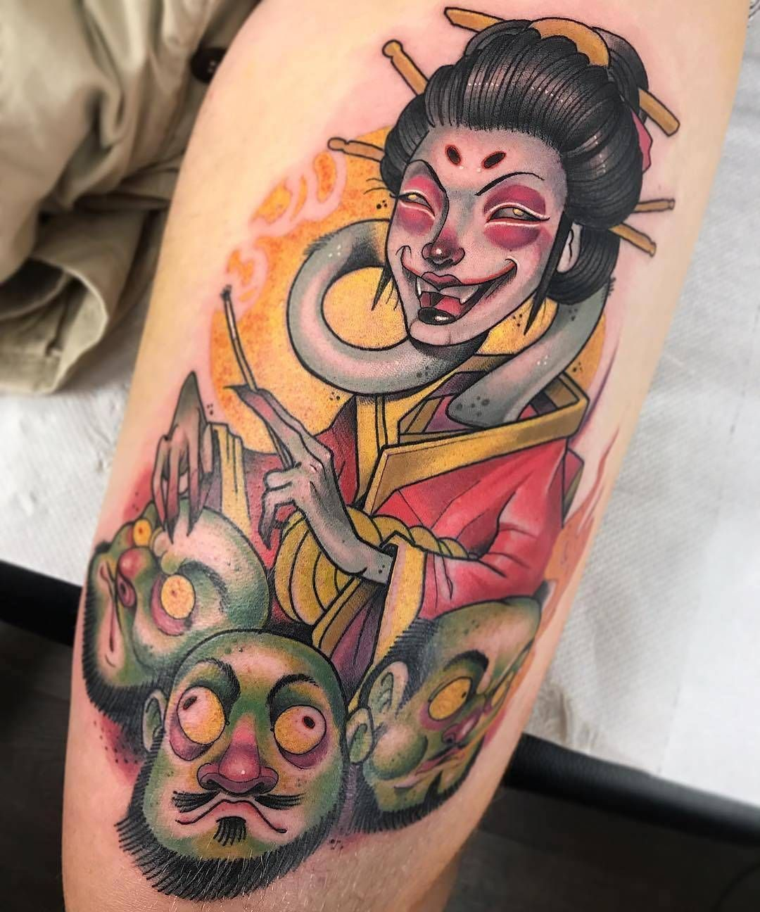 Tattoo artist Guindero, color new school neo traditional ...