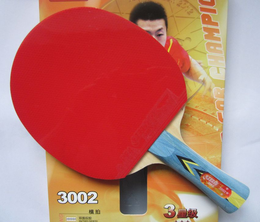 Original Dhs 3002 And 3006 Table Tennis Racket With 3 Stars Finished Rackets Racquet Sports Pingpong Paddles Table Tennis Bats Table Tennis Table Tennis Racket