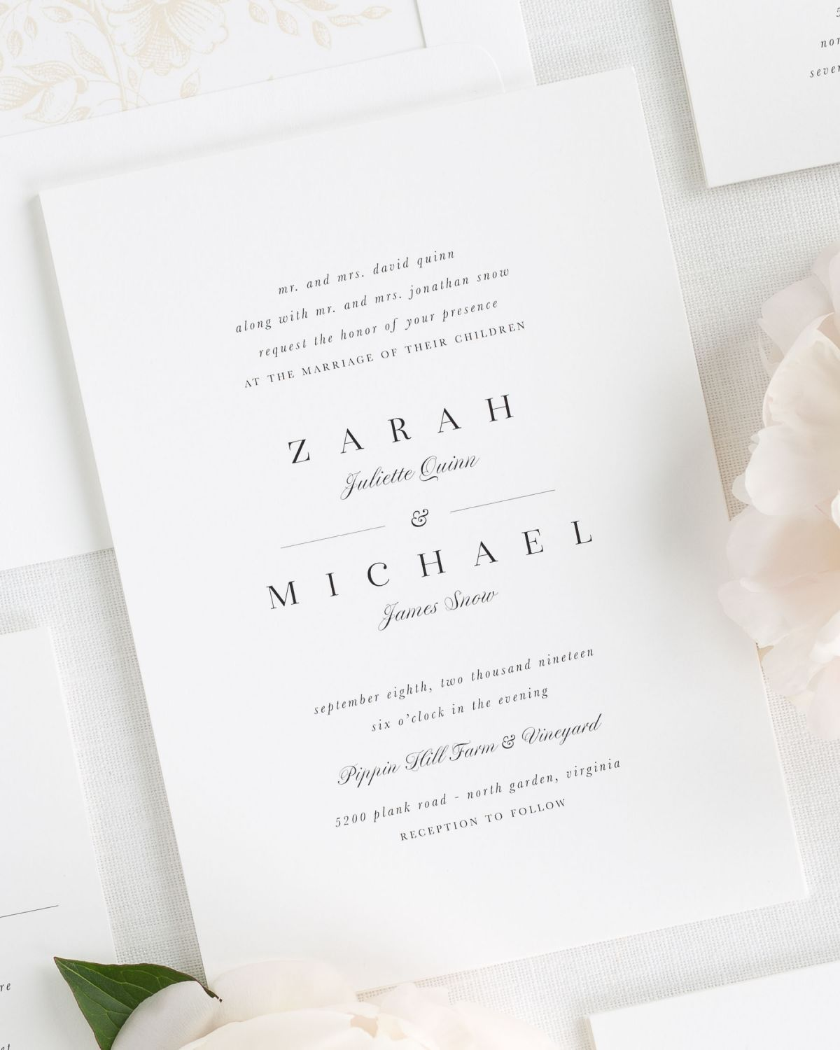 Reception Following Ceremony Wording: Zarah Wedding Invitations In 2019