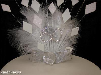 60th Wedding Anniversary Decorations Diamond Cake Topper Ebay