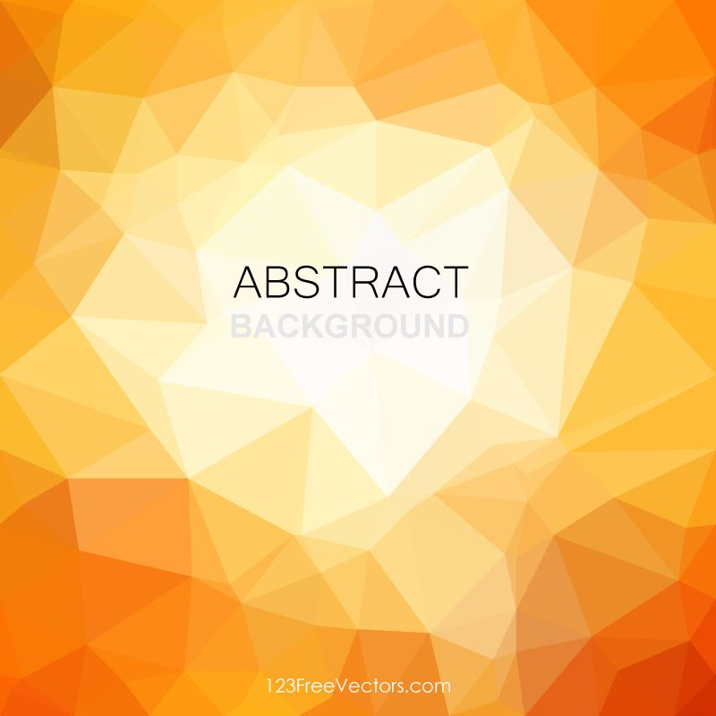 Orange Abstract Polygonal Pattern Background Free Background