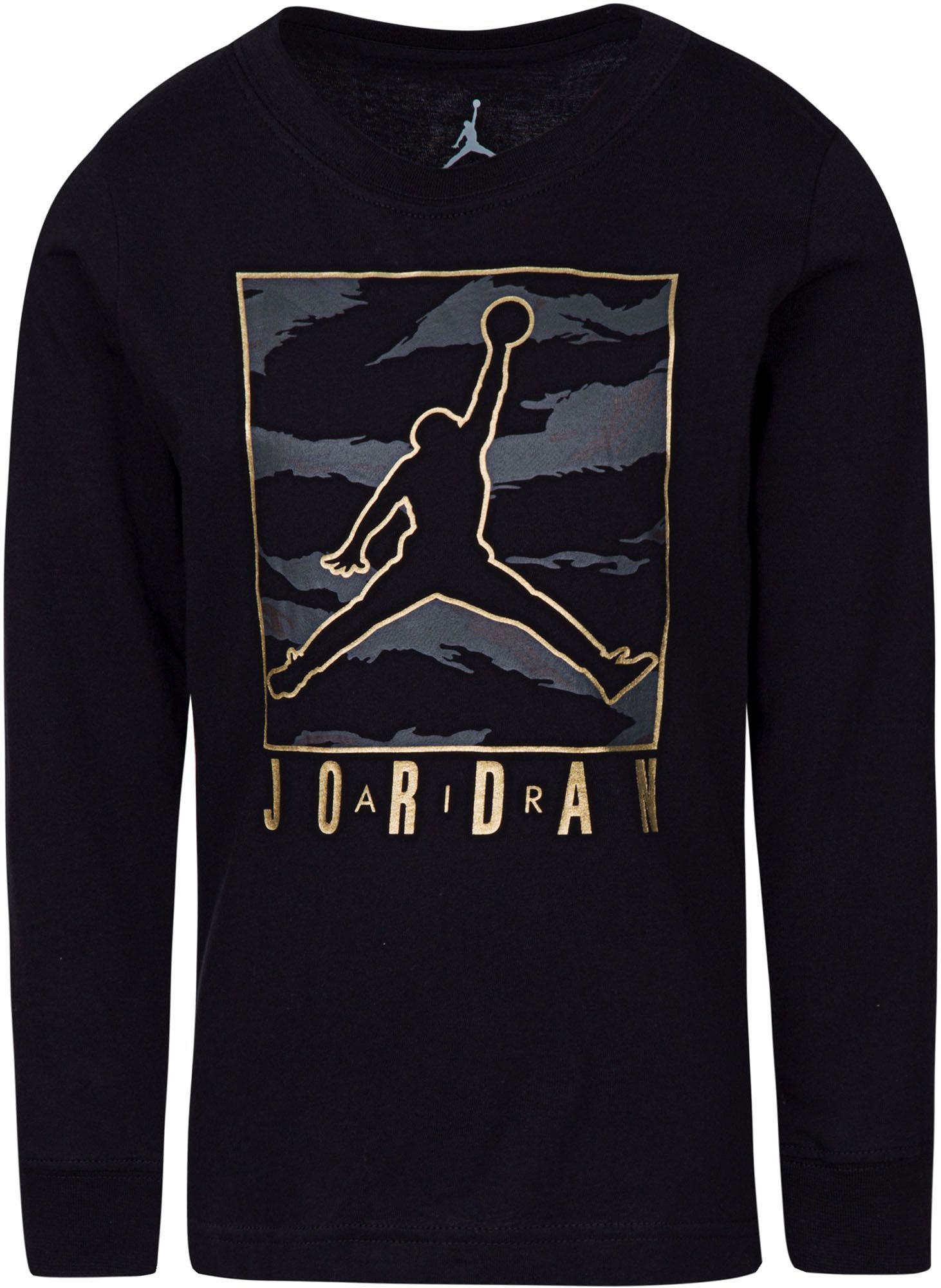 Details about NEW Nike Boy's Jordan Jumpman Long Sleeve Shirt Red w BlackGrey Elephant Print