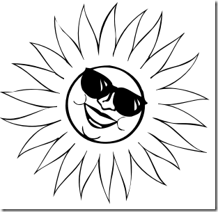 Many Free Black And White Clip Art Images Clip Art Sun Coloring Pages Coloring Pages