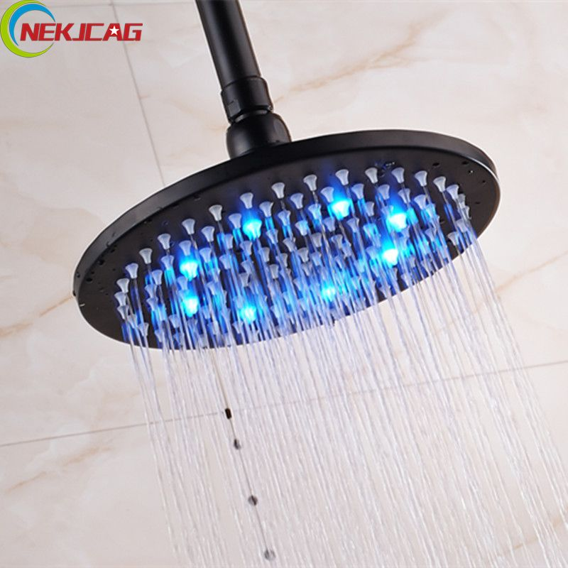 12 Inch Ceiling Mounted Oil Rubbed Bronze Led Light Shower Head