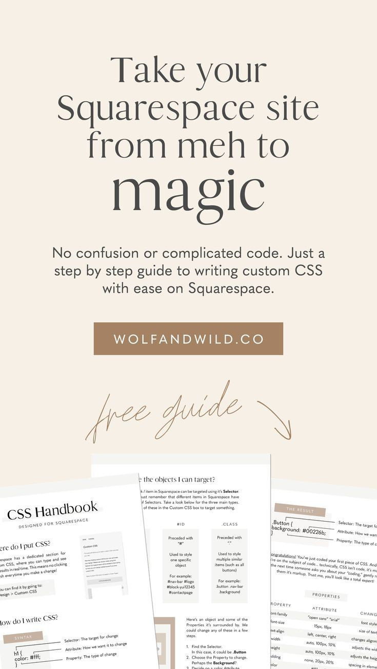 Level up your Squarespace website with Custom CSS
