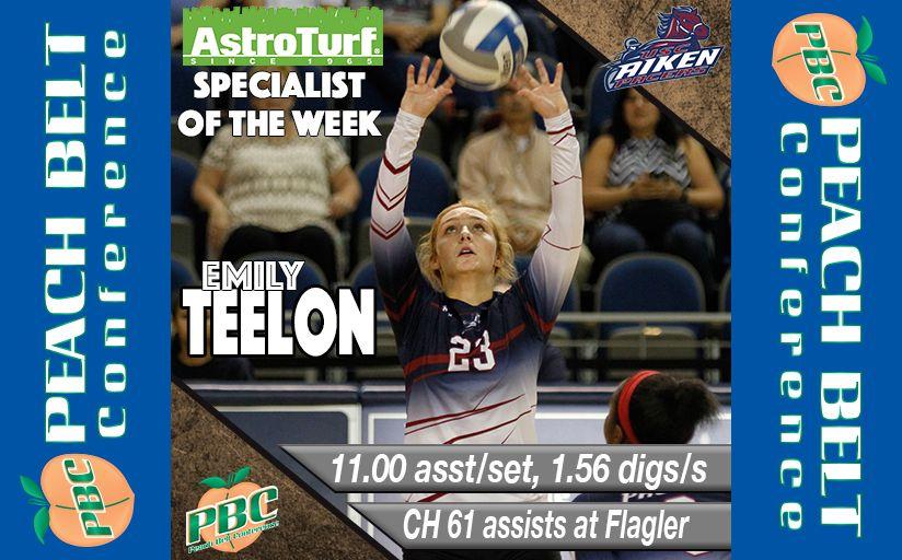 Volleyball Specialist Of The Week Emily Teelon Usc Aiken Usc Specialist Week