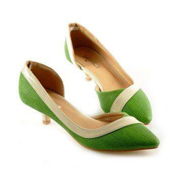 Green Kitten Heel. Meow. | Kitten heels | Pinterest | Kitten heels ...