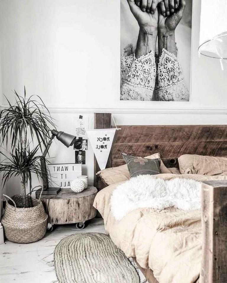 Photo of 35+ Modern Rustic Scandinavian Bedroom Design Ideas