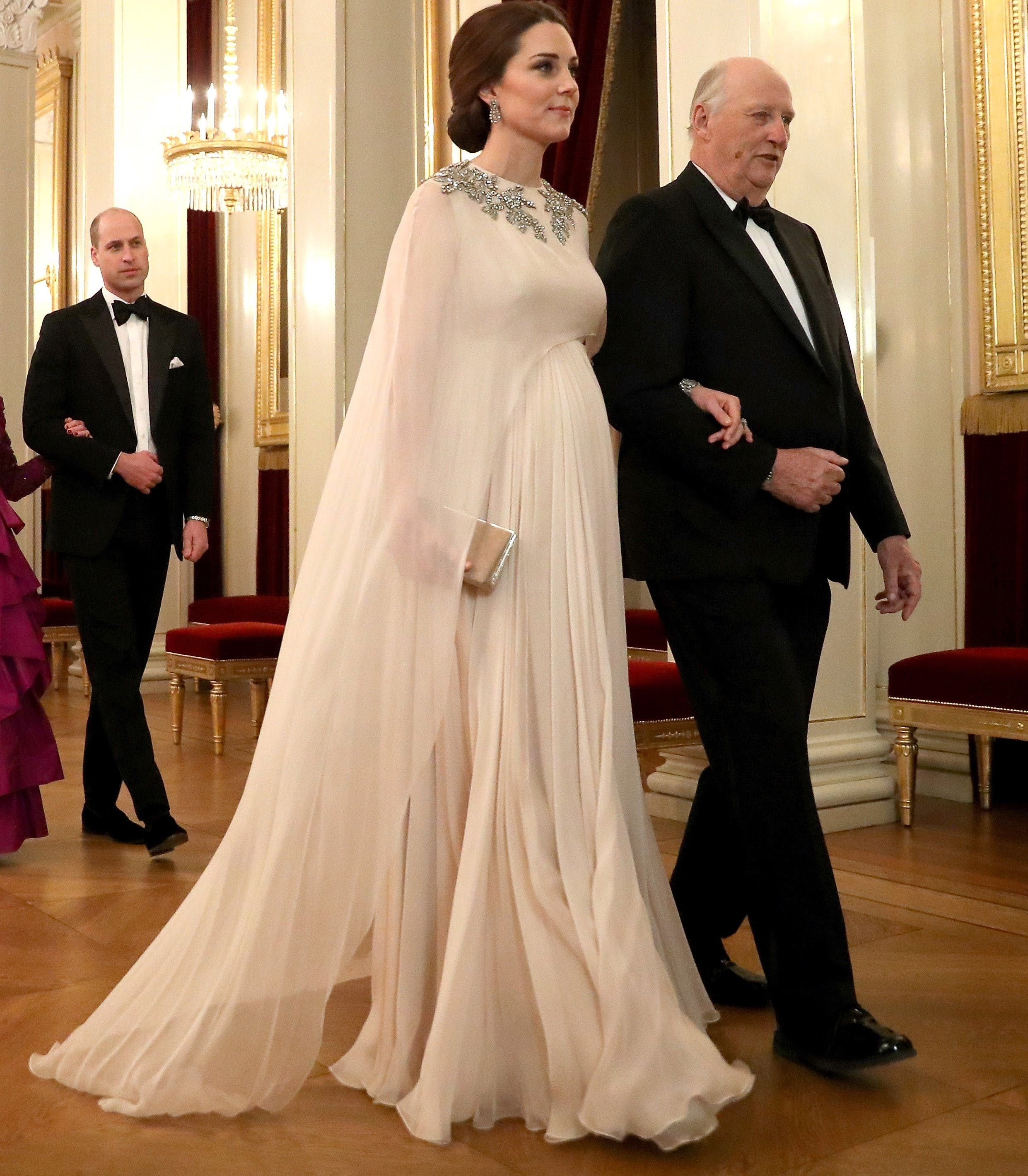 Kate Middleton Wore an Ethereal Capelet Frock by Her Own