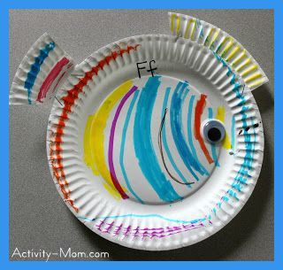 Paper Plate Alphabet Craft \u2013 F is for Fish & Paper Plate Alphabet Craft \u2013 F is for Fish | School ideas ...