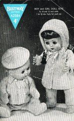 Bestway 2584 dolls clothes vintage knitting pattern