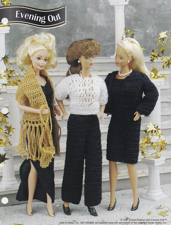 Evening Outfit, Annie\'s Attic Fashion Doll Crochet Pattern Club ...