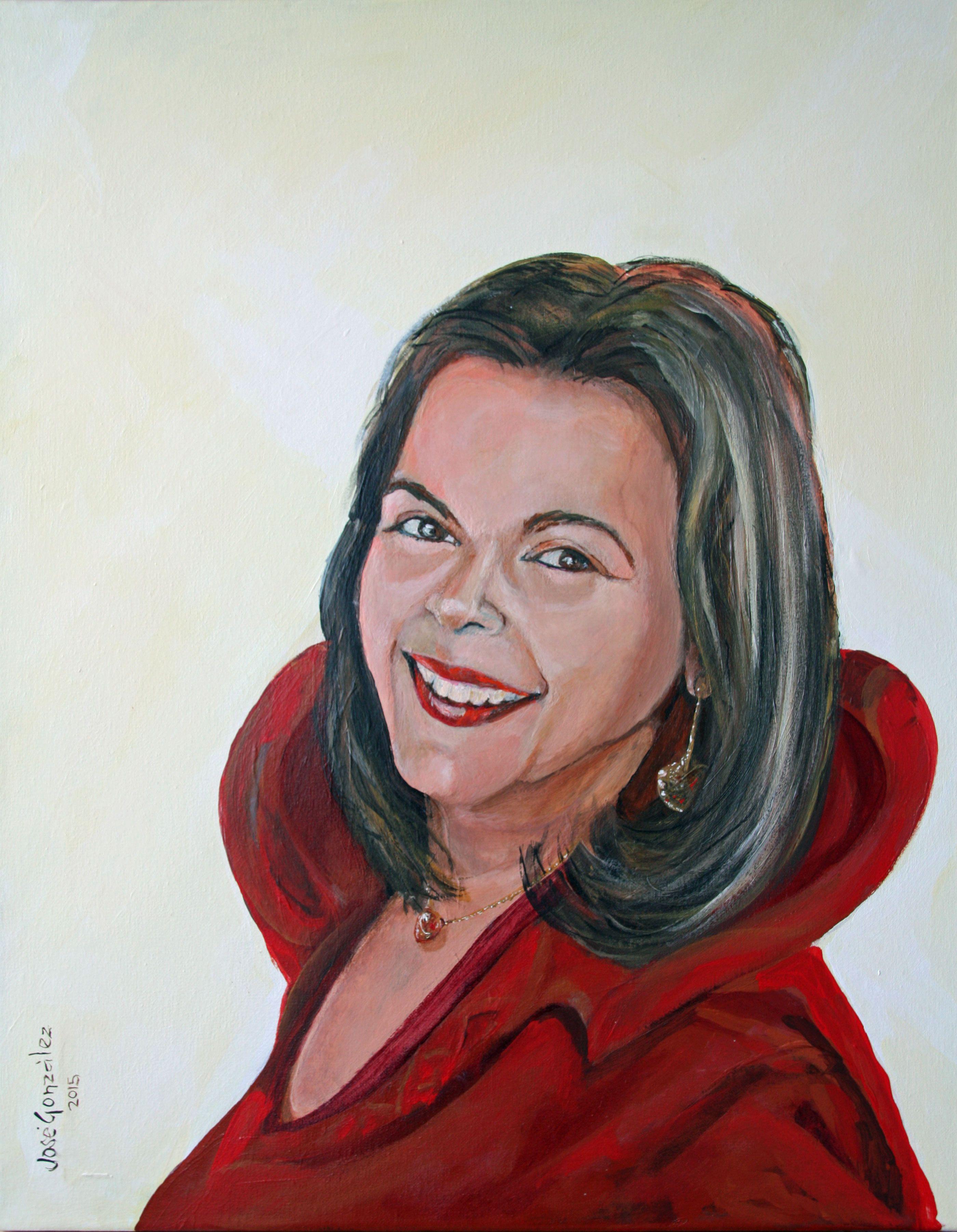 Cristina Acryl op doek 40x50 cm José González 2015
