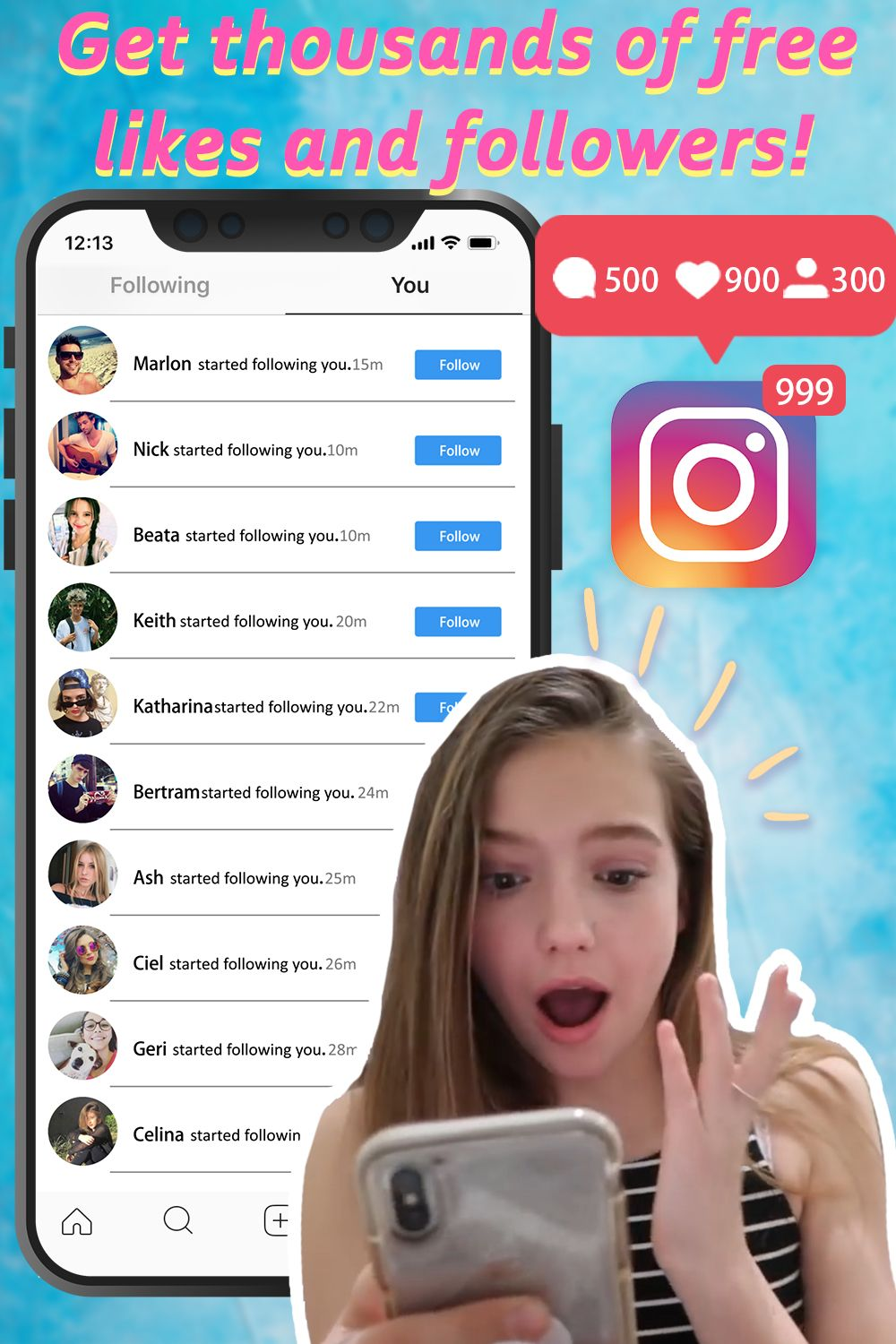 Get more real Instagram followers and likes! an IG
