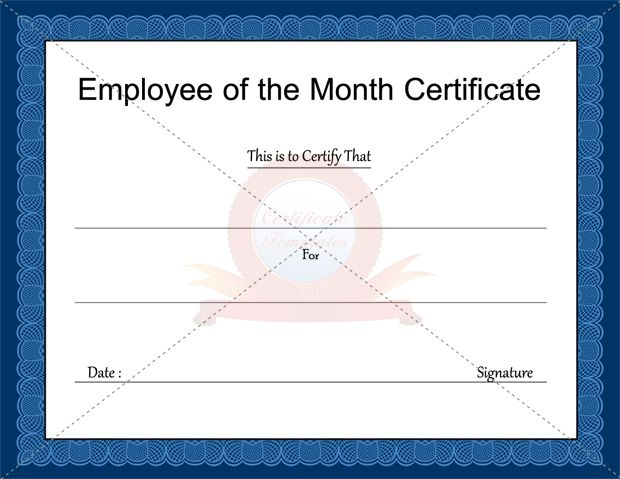 Employee of the Month Certificate Template Business Certificate - free business certificate templates