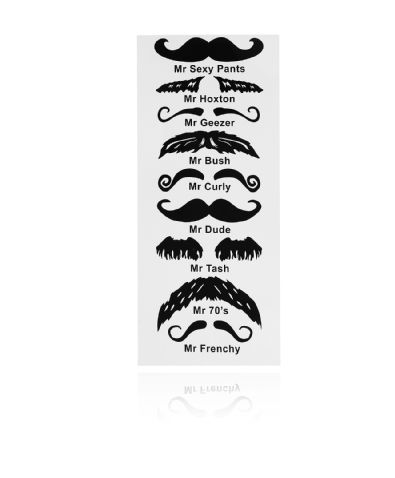 Gina Tricot -Moustache tattoos