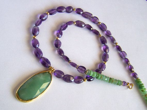 RESERVED FOR S.  Amethyst and Australian by pinkowljewelry on Etsy