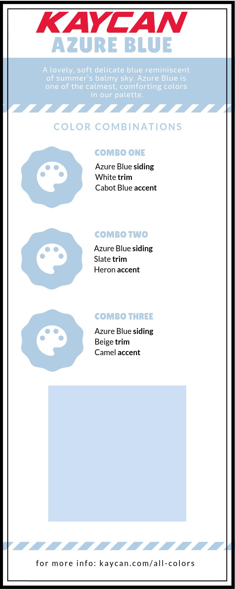 Azure Blue Vinyl Siding Color Vinyl Siding Colors Siding Colors Blue Vinyl Siding