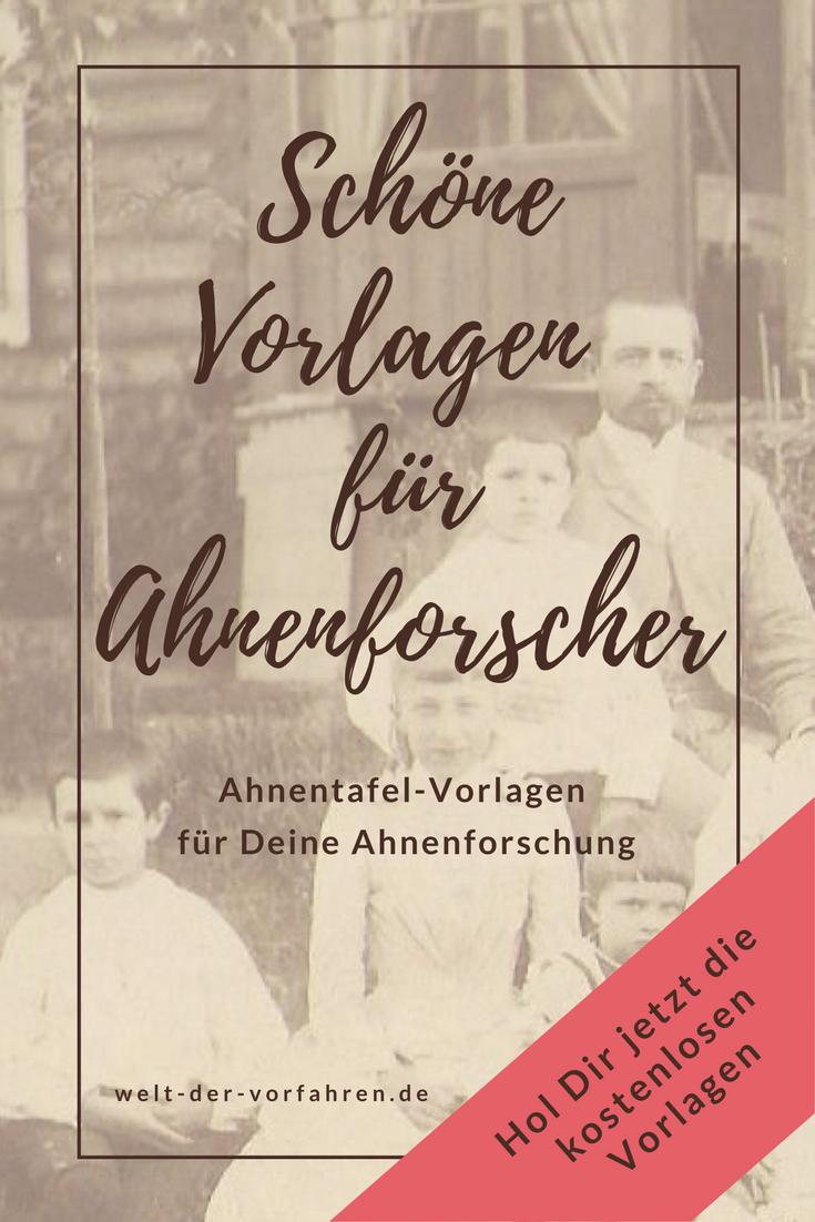 Ahnenforschung-Vordrucke: eine Übersicht   Ahnentafel ...