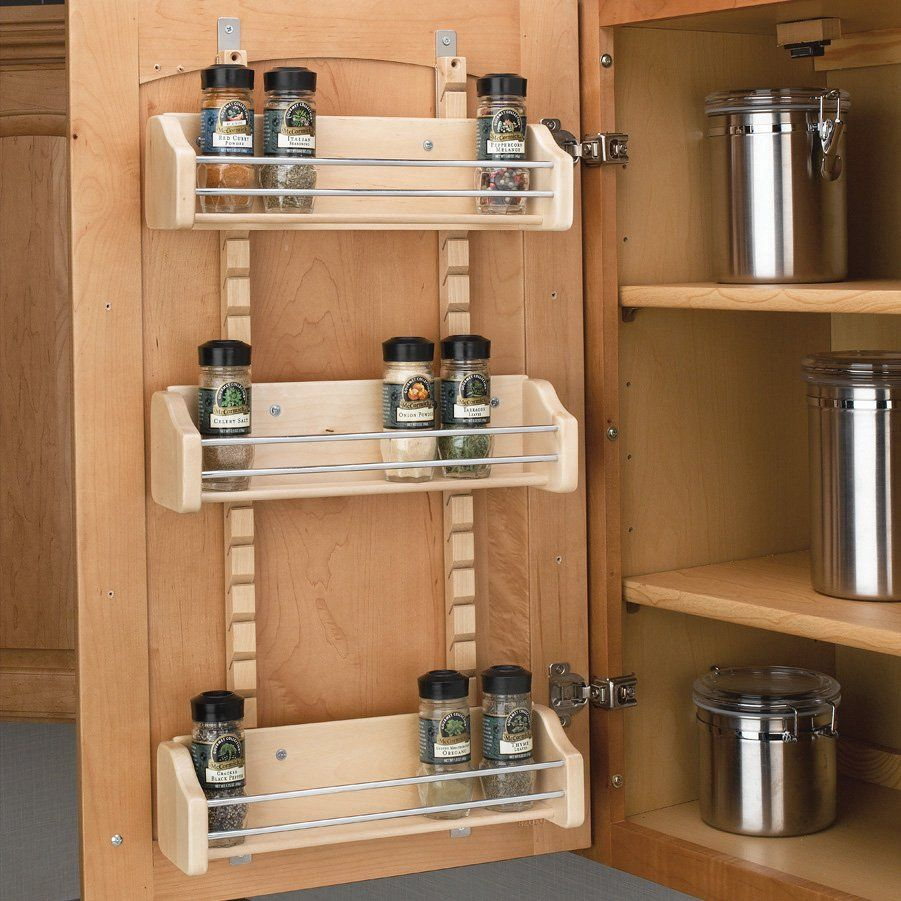Captivating Rev A Shelf 4ASR Adjustable Spice Rack Cabinet Organization, Chrome   Knobs  And